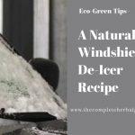 A Natural Windshield De-Icer Recipe
