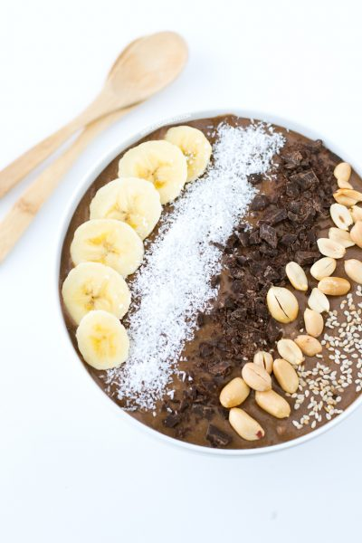 Chocolate Peanut Butter Smoothie Bowl