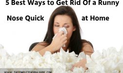Get Rid Of a Runny Nose Quick at Home