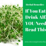 If You Eat or Drink Alfalfa YOU Need To Read This