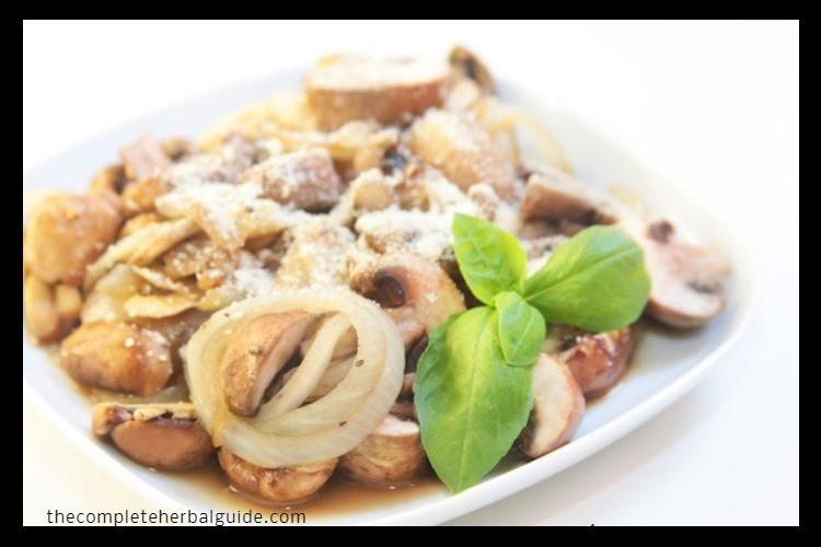 Mushrooms With Vegan Parmesan