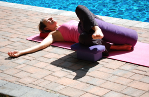 Breast Cancer Yoga - Two Legged Twist