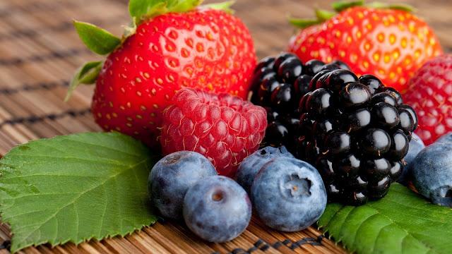 Strawberries-Raspberries-Blackberries-Blueberries-Grapes