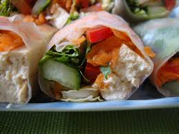 how to make salad wraps with rice paper