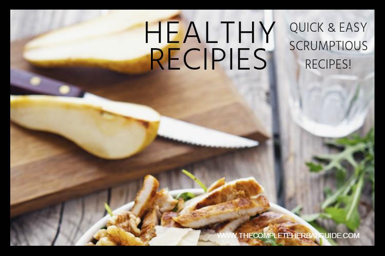 healthy recipe banner