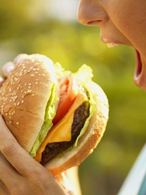 high cholesterol, fast food