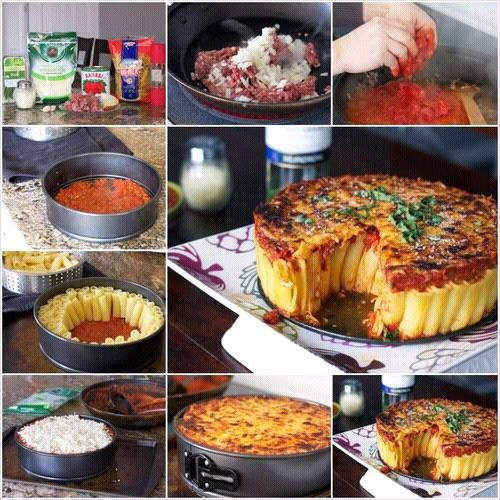 vegetable pasta pie
