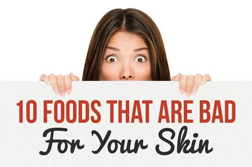 bad food for your skin