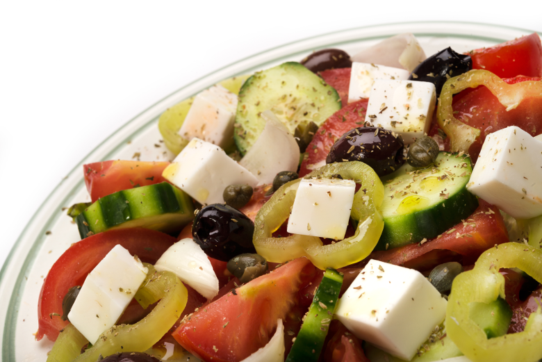 vegan-dairy-free-plant-based-diet-greek-salad-mediterranean-feta-flavour-cheese