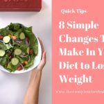8 Simple Changes To Make In Your Diet to Lose Weight