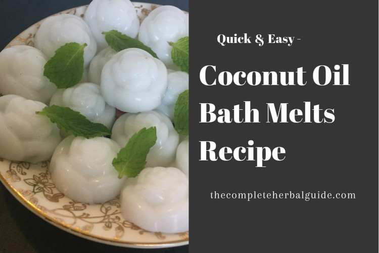 Easy Coconut Oil Bath Melts Recipe