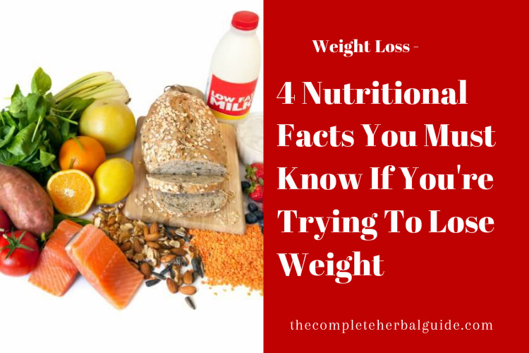 4 Nutritional Facts You Must Know If You're Trying To Lose Weight
