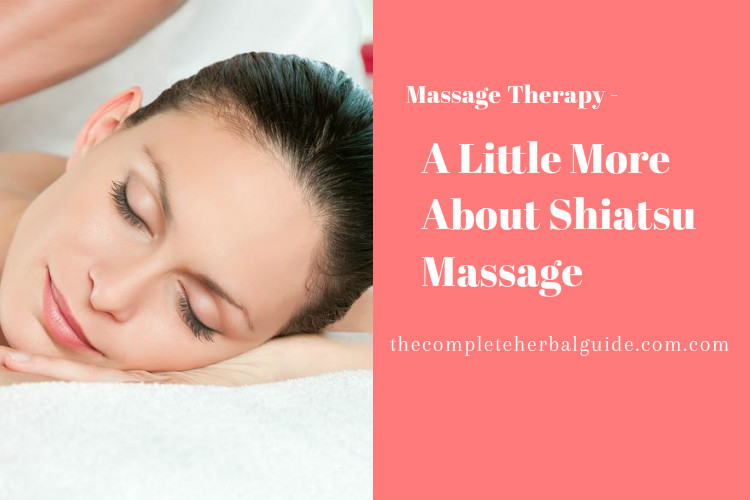 A Little More About Shiatsu Massage