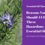 Reasons You Should AVOID These Hazardous Essential Oils