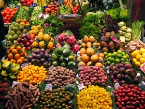 plenty of fruits and vegetables