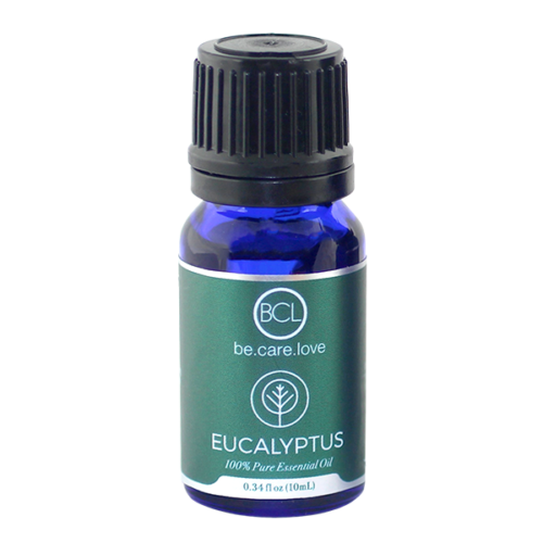 """""""BCL (be.care.love) Eucalyptus Oil: The Surprising Benefits of Eucalyptus Oil."""" Did you know…? The health benefits of eucalyptus oil are well-known and wide-ranging, and its properties include being an anti-inflammatory, antispasmodic, decongestant, deodorant, antiseptic, antibacterial, stimulating, and other medicinal qualities. Why should people use Jojoba Oil? 1. Colds & Flu Eucalyptus works as an expectorant and helps cleanse your body of toxins and harmful microorganisms that can make you feel sick. One of the most effective ways to utilize eucalyptus for colds is to drop several drops of the essential oil into your diffuser before going to sleep so you can take advantage of the healing benefits all night long. 2. Hair Nourishment A few drops eucalyptus oil with some coconut or olive oil gives your hair a nice moisturizing pick-me-up. This is especially great to ward off dandruff and an itchy scalp. Also, eucalyptus is used as a natural remedy for lice in replacement of chemical treatments. 3. Hand Cleaner Eucalyptus EO is an excellent cleanser to remove grease and grime from your workday and can rejuvenate sore hands and feet when mixed into your salt bath. Simply mix sea salt, epsom salt and eucalyptus oil to remove grease and dirt for good. 4. Sinus and Allergies A study from NYU Medical School found that using eucalyptus was effective at treating sinusitis. Patients experienced faster improvement when supplementing with eucalyptus oil for allergies and sinus issues. The study had participants take eucalyptus oil internally, and it's also recommended to gargle with it to clear the throat. 5. Natural Home Care Not only does eucalyptus give a nice, fresh fragrance to your home products, but it adds vital anti-microbial properties as well. You can't go wrong putting several drops into pretty much everything: soap, laundry detergent, mop water, toilet cleaner, window cleaner … the list goes on! 6. Odor Remover Whether you're battling smelly shoes or a stinky dog"""