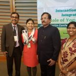 At the 2nd International Conference on Integrative medicine: Role of Yoga & Ayurveda at Harvard University with the Indian Central Minister for AYUSH, Shri Shripad Naik.