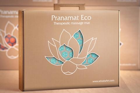 Pranamat ECO: Therapeutic Manual Massage Mat Pillow and Bag
