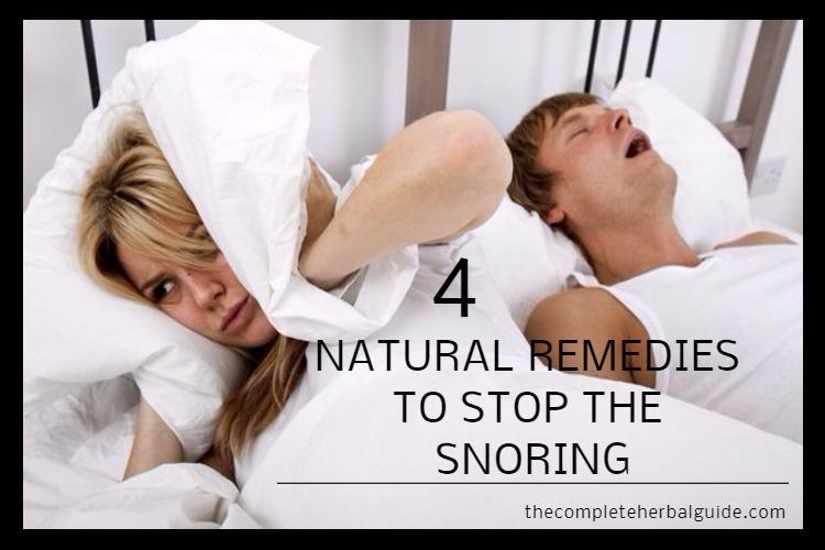 4 NATURAL REMEDIES TO STOP SNORING