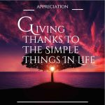 APPRECIATION_Giving Thanks to the Simple Things In Life