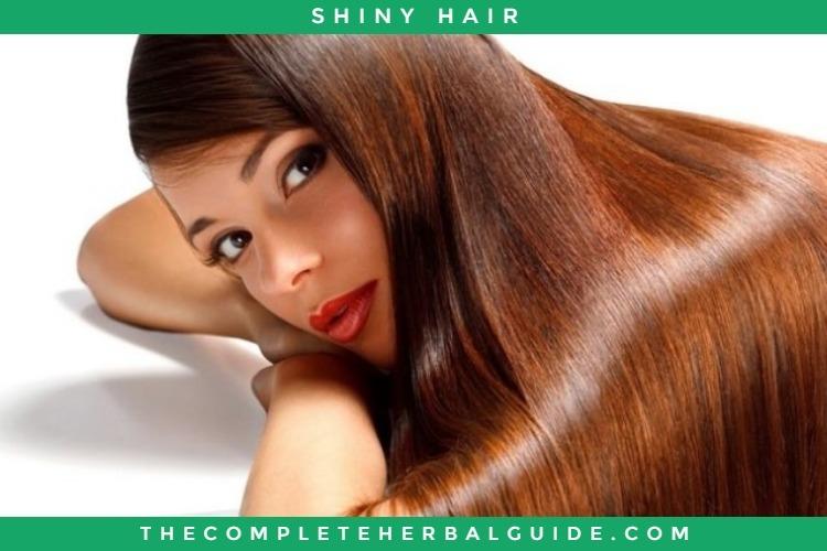 Shiny glossy hair