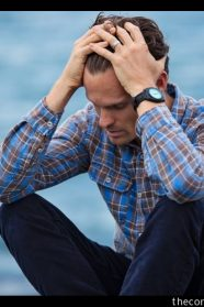 Pexels.com royalty-free image #897817, uploaded by user Nathan Cowley, retrieved from https://www.pexels.com/photo/man-in-blue-and-brown-plaid-dress-shirt-touching-his-hair-897817/ on June 24th, 2019. License details available at https://www.pexels.com/photo-license/ - image is licensed under the Pexels License