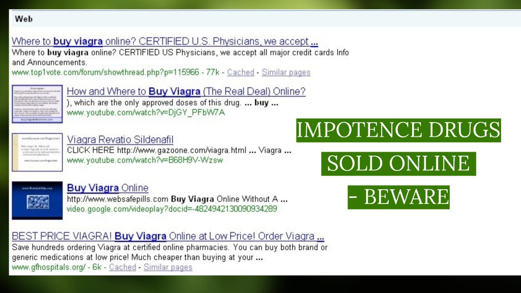 impotence drugs sold online